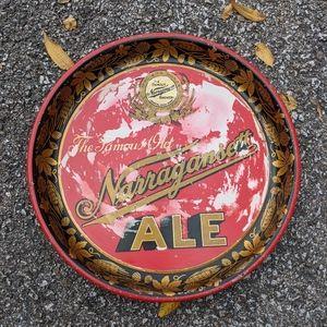 """VTG 30s NARRAGANSETT Tin 13"""" Beer Tray"""